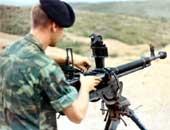 Заряжание пулемета ДШКМ.