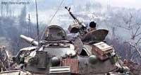 12,7-мм пулемет ДШКМТ на башне советского танка