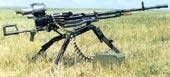 Крупнокалиберный пулемет НСВ-12,7 на станке конструкции Степанова - Барышева. Установлен ночной прицел.