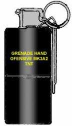Американская наступательная фугасная ручная граната MК3А2