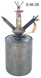 Выпрыгивающая осколочная мина кругового поражения Sprengmine 35 (S.Mi. 35).