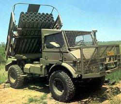 127-мм реактивная система залпового огня Valkiri Mk 1.22